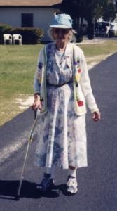 Catherine Kaltner on a stroll