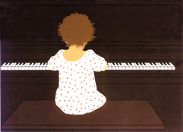 Gail Bruce, Dakota at the Piano, serighraph
