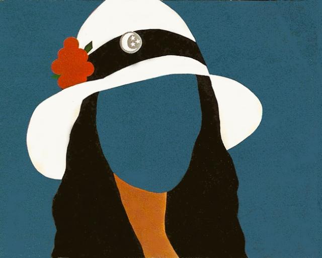 Gail Bruce, White Hat, acrylic